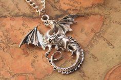 dargon necklaceretro silver dargon necklaceN103 by fabuloustime