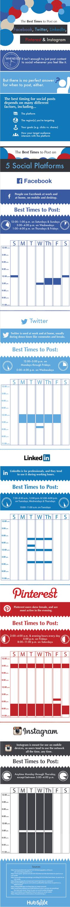 The Best Times for Marketing Pros to Post on Social Media Sites [Infographic] Inbound Marketing, Marketing Automation, Facebook Marketing, Marketing Digital, Online Marketing, Social Media Automation, Social Media Analytics, Social Media Site, Social Media Marketing