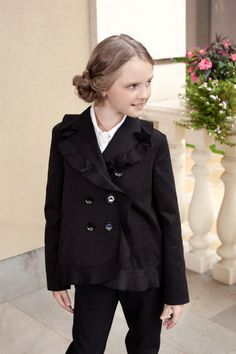 #Classic double-breasted detail coat for you kids by #Papilio
