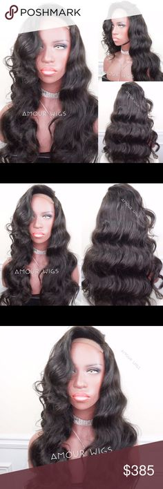 Brazilian Retro Waves Lace Closure Custom Wig Brazilian Body Wave Lace Closure Custom Wig | Styled Retro Hollywood Waves | 100% Brazilian Body Wave Hair | 18 inch Lace Closure (Non-Customized) | 3 Bundles of Brazilian Body Wave 20/22/24 inches | Natural Black Color  100% Human Hair | 4x4 Lace Closure w/ baby hairs | Wig unit made on 22 inch canvas wig block | Can fit head sizes 21.5 to 22 1/2 inch | Wig unit made on mesh cap with adjustable straps | Elastic band will be included in wig order…