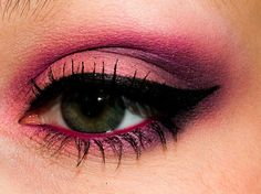 Soft Pink https://www.makeupbee.com/look.php?look_id=834811. apply jumbo pencil over lid as a based 2. use a soft peachy pink colour over entire lid 3. blend poison plum lightly into outer corner of eye into the crease 4. apply dark pink pencil on water line 5. black liquid liner