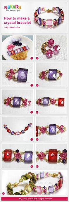 how to make a crystal bracelet