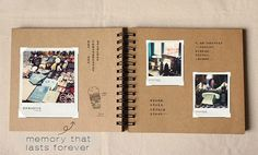 98 pages Wedding Guestbook // Kraft Scrapbook Album by PapergeekMY