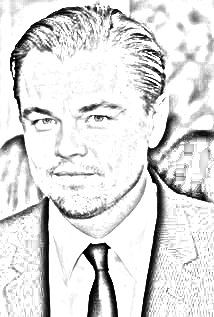 Leonardo DiCaprio drawing. Upload your photo and get a drawing for free!