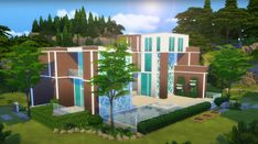 Sims 4 Build, Outdoor Furniture Sets, Outdoor Decor, Beach House, The Incredibles, Building, Awesome, Modern, Beach Homes