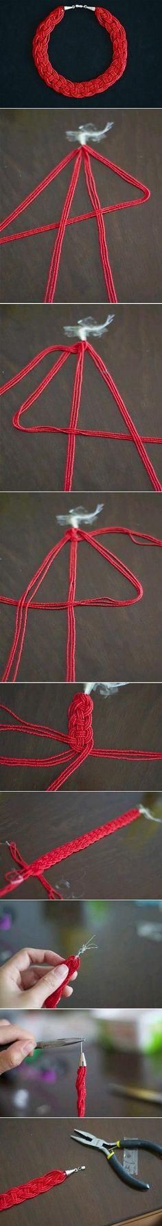 DIY Pretty Bead Necklace DIY Projects | UsefulDIY.com