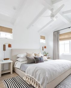 Amber Interiors Creates a Beachy Eclectic Home for Elyse Walker ~ Stace King Amber Interiors Creates Trendy Bedroom, Modern Bedroom, Natural Bedroom, White Bedrooms, Master Bedrooms, Master Suite, Dream Bedroom, Home Decor Bedroom, Bedroom Ideas