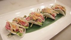 Chef Uno Makes Daikon Poke Tacos Daikon Recipe, How To Take Photos, Food Videos, Asparagus, Tacos, Brunch, Appetizers, Yummy Food, Restaurant