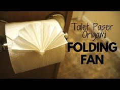 How to make Toilet Paper Origami Folding Fan (easy! Toilet Paper Origami, Best Toilet Paper, Towel Origami, Toilet Paper Roll Crafts, Paper Oragami, Paper Origami Flowers, Paper Napkin Folding, Origami Paper Folding, Paper Glue