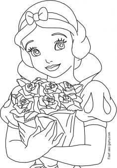Free Printable Disney Princess Snow White Coloring Pages For