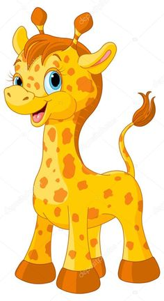 Descargar - Cría de jirafa lindo poco — Ilustración de stock #56232049