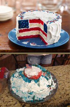 And this one that should probably be rebranded as a moon landing base cake. | 23 Hilarious Fourth Of July Pinterest Fails