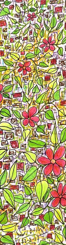 Projecte flor  22-5-17 retoladors i llapis color punt s Dolors Buch Castañer