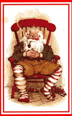 santa with pipe,I love this one!