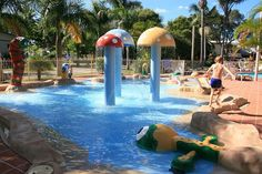 Forster Tuncurry caravan park holiday cabins and camping sites - Pool, Waterpark, Playground, Camp Kitchen, TV Room & Library