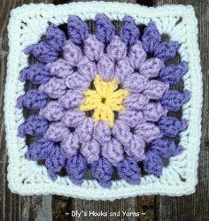 Resultado de imagen de crochet granny square daisy pop corn patterns