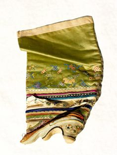 Vintage Ornate Embroidered Silk Chinese High Top Lotus Shoe for Bound Feet   eBay