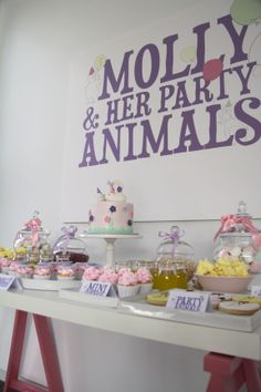 LETTUCE & CO - STYLE. EAT. PLAY  'molly & her party animals', children's party, dessert table