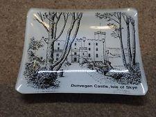 Glass Pin Tray Ash Tray Souvenir Plate Dunvegan Castle