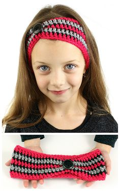 FREE crochet pattern for an easy to make striped pinched crochet headband. Quick to make, can be done in about an hour.