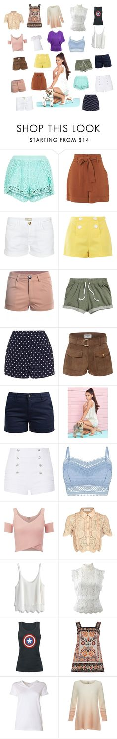 """""""easy breezy Sun fun"""" by kmqpakagirlyjo ❤ liked on Polyvore featuring New Look, Whistles, Current/Elliott, Boutique Moschino, Zizzi, Frame Denim, Barbour, Lipsy, Pierre Balmain and self-portrait"""