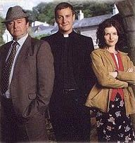 Ballykissangel, a fantastic British TV series..first part of the series with Father Clifford and Asumpta are my favorites, but Colin Farrell achieved fame on this program, I believe.