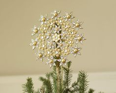 Pottery Barn Pearl and Jewel Tree Topper