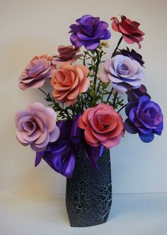 Spring Summer Paper Flower Arrangement in by SweetPeasFlorals, $43.00