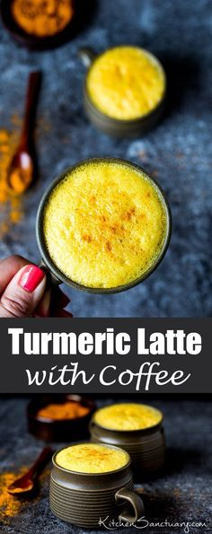 Turmeric Latte with Coffee - delicately spiced and comforting but with a little…