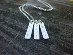 three3 initial bar necklacedouble initial bar by MomentusNY, $60.00