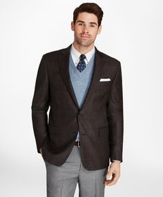 Layering well is an art form of it's own. - Brooks Brothers Regent Fit Plaid with Deco Sport Coat