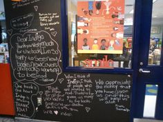 Queen Victoria School, a 2011 #Indigo #LoveOfReading grant recipient, sent us their library's Thank You wall. #IndigoLOR10