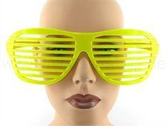 F-023gelb Fun Party Brille Form: Atzenbrille Farbe: gelb