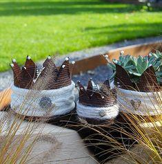 Die 16 besten bilder von deko kronen crowns tin cans for Rostkronen garten
