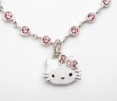 Hello Kitty Pink Swarovski Charm Bracelet and like OMG! get some yourself some pawtastic adorable cat apparel! Hello Kitty Jewelry, Hello Kitty Accessories, Hello Kitty Items, Sanrio Hello Kitty, Cat Jewelry, Jewelery, Hello Kitty Imagenes, Hello Kitty Collection, Hello Kitty Wallpaper