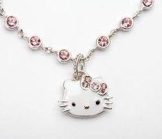Hello Kitty Pink Swarovski Charm Bracelet