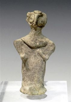 A Syro-Hittite Stylized Female Idol / From the ancient Near East, Syria, ca. 2nd Millennium BC.