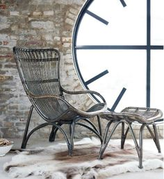 This Monet rattan chair has a design inspired by old drawings from the 50's and the 60's. Handmade in Scandinavia, the old wicker handcraft really has come into its own in the chair with so many intricate details in the back and the armrests. Available to purchase in-store from House & Garden, or online at; http://www.snapemaltings.co.uk/shop-online/furniture/chairs/monet-antique-rattan-chair