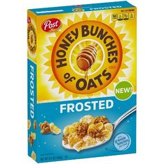 Honey Bunches of Oats Frosted Breakfast Cereal - Post Oat Cereal, Breakfast Cereal, Buy Honey, Cinnamon Toast Crunch, Crunchy Granola, Baking Recipes, Oatmeal, San Francisco, Snacks