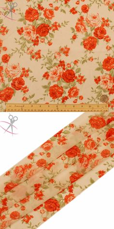 The Rose bushels bounce on the Off White background beautifully. Hi Multi Chiffon Print is a lightweight, stylish and free flowing fabric. It is a great material for layered dresses, blouses, scarves, wraps, DIY hairpieces, even chair decorations and much more!