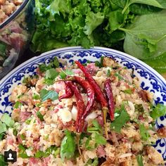 Laos Recipes, Thai Recipes, Rice Recipes, Asian Recipes, Cooking Recipes, Laos Wedding, Yummy Drinks, Yummy Food, Laos Food