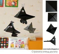 Kraaien vouwen / Paper ravens and bats