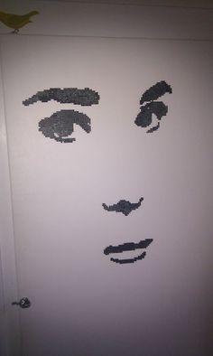 Miss Hepburn on my closetdoor