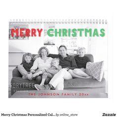 Merry Christmas Personalized Calendar