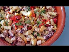 Chicken Salad Recipes, Pasta Salad, Costa, Ethnic Recipes, Youtube, Food, Egg Recipes, Pork, Octopus