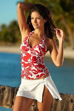 red tankini swimsuits swim dress for women-sorry, no link