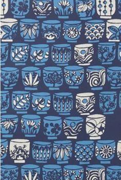 Vera Neumann Teacup Alley Wallpaper