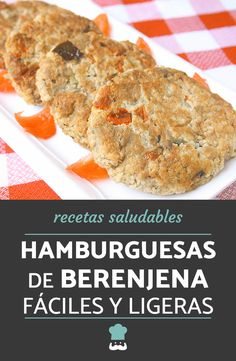 Receta de hamburguesas de berenjena fáciles y ligeras. #RecetasGratis #RecetasVegetarianas #HamburguesasVegetales #HamburguesasCaseras #RecetasconBerenjena Healthy Gluten Free Recipes, Raw Food Recipes, Easy Dinner Recipes, Cooking Recipes, Vegetarian Side Dishes, Vegetarian Recipes, Easy Cooking, Healthy Cooking, Veggie Recipes Sides