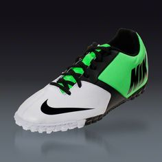 44122509a39 Nike Bomba II - White Black Neo Lime Turf Soccer Shoes Soccer Gear