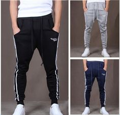 2015 New Outdoors Cargo Loose Trousers Men's Sweat Harem Sport Joggers Men causal Hip Hop Slim Fit Sweat pants for Dance Sports
